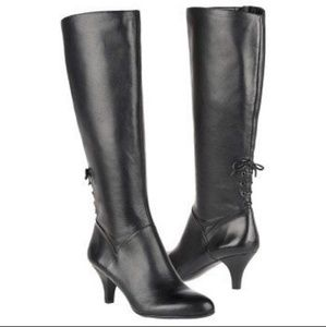 Naturalizer Wide Shaft Dinka Leather Boot Size 8N